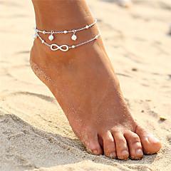 ieftine Bijuterii pentru corp-În Straturi Brățară Gleznă - Perle Infinit Dublu Stratificat, Boem, Modă Auriu / Argintiu Pentru Serată / Plajă / Bikini / Pentru femei