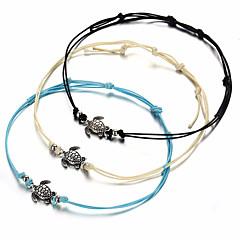 baratos Bijoux de Corps-Tornezeleira - Tartaruga, Animal Simples, Vintage Branco / Preto / Azul Para Presente / Mulheres