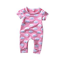 billige Babytøj-Baby Unisex Aktiv / Basale Trykt mønster Kort Ærme Bomuld En del