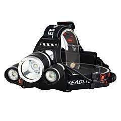 Boruit® RJ-3000 Pannlampor Framljus till cykel LED LED 3 utsläpps 3000/5000 lm 4.0 Belysning läge med laddare Uppladdningsbar Strike Bezel Camping / Vandring / Grottkrypning Resa