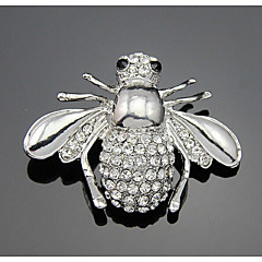cheap Pins and Brooches-Women's Lovely Rhinestone Brooches - Sweet Irregular Silver Brooch For Party / Daily