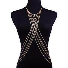 tanie Piercing-Łańcuszek na brzuch Bikini, Modny Damskie Złoty Biżuteria Na Wyjściowe / Bikini