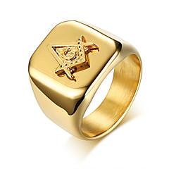 ieftine Verighete-Bărbați Geometric Band Ring - Modă 9 / 10 / 11 Auriu Pentru Zilnic / Oficial