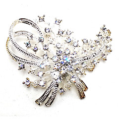 cheap Pins and Brooches-Women's Leaf Brooches - Metallic Silver / Black Brooch For Party