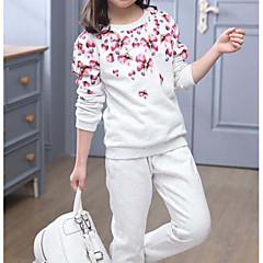 billige Tøjsæt til piger-Børn Pige Anden Bomuld Tøjsæt Lyserød