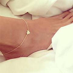baratos Bijoux de Corps-Tornezeleira - Coração Boêmio, Bikini, Fashion Dourado / Prata Para Presente Para Noite Mulheres