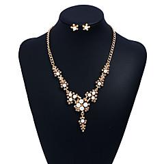 tanie Zestawy biżuterii-Damskie Cyrkonia Pearl imitacja Imitacja pereł Cyrkon Ponadgabarytowych Biżuteria Ustaw Zawierać 1 Naszyjnik Náušnice - Ponadgabarytowych