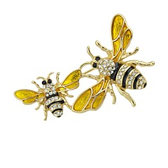 cheap Brooches-Women's Bee Brooches - Basic / Fashion Gold Brooch For Daily / Date