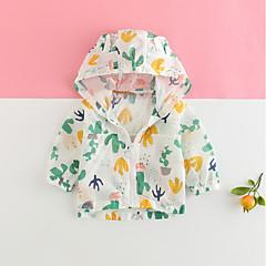 billige Overtøj til babyer-Baby Unisex Trykt mønster Langærmet Jakke og frakke