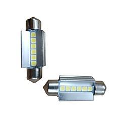 billige Interiørlamper til bil-2pcs 39mm Bil Elpærer 6W 600lm 6 LED interiør Lights For Audi / Honda / Hyundai ML400 / GLE320 / GLA220 2018 / 2017 / 2016