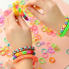 baratos Miçangas & Fabricação de Bijuterias-Mulheres Confeccionada à Mão / Bricolage / Colorido Presilha Dentada para Cabelos / Elástico para Cabelos / Bandana - Básico