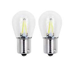 voordelige -2pcs 1157 / 1156 Automatisch / Motor Lampen 2W COB 150lm 2 LED Richtingaanwijzerlicht For Universeel Algemene motoren Alle jaren