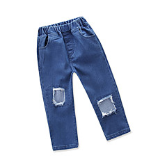 billige Jeans til piger-Baby Pige Ensfarvet Uden ærmer Jeans