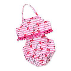 billige Badetøj til piger-Baby Pige Stribet Trykt mønster Uden ærmer Badetøj