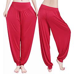 Dam Harem Yoga byxor - Mörkröd, ljusgrön, Marinblå sporter Modal Långbyxor / underbyxor Sportkläder Antistatisk, Andningsfunktion, Len