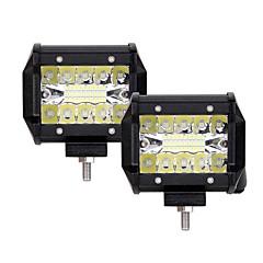 voordelige Autolampen-2pcs Automatisch Lampen 60W Geïntegreerde LED 6000lm 20 LED Exterieur Lights For Universeel 2018