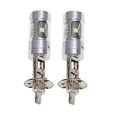billige Tåkelys til bil-SENCART 2pcs H1 Motorsykkel / Bil Elpærer 30W SMD LED 1800-2100lm 6 LED Tåkelys For Universell Alle år