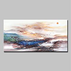 billiga Oljemålningar-Hang målad oljemålning HANDMÅLAD - Abstrakt / Landskap Klassisk / Moderna Inkludera innerram / Sträckt kanfas