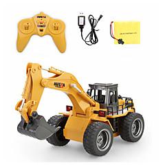 baratos Carros Controle Remoto-Carro com CR 1530 6 Canais 2.4G Escavadora 1:18 Electrico Escovado 40 km/h KM / H