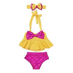 baratos Roupas de Meninas-Bébé / Bebê Para Meninas Praia Estampado Roupa de Banho