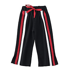 billige Bukser og leggings til piger-Børn Pige Aktiv Patchwork Patchwork Bomuld Bukser