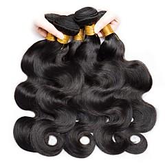 お買い得  人毛つけ毛-6バンドル インディアンヘア ウェーブ 未処理 人間の髪編む / 人毛エクステンション ナチュラルカラー 人間の髪織り 新参者 / 黒人女性用 人間の髪の拡張機能 女性用