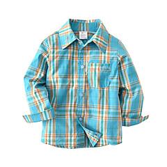 billige Overdele til drenge-Børn / Baby Drenge Farveblok Langærmet Skjorte