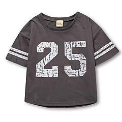tanie Odzież dla chłopców-Dzieci Dla chłopców Podstawowy Jendolity kolor Krótki rękaw T-shirt