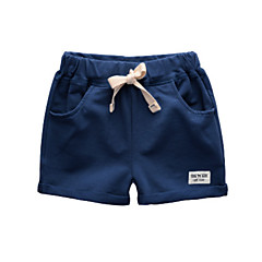 baratos Roupas de Meninos-Infantil / Bébé Para Meninos Sólido Shorts