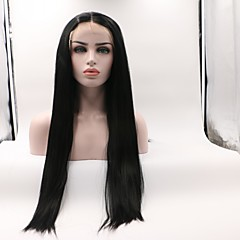 cheap Wigs & Hair Pieces-Synthetic Lace Front Wig Women's Wavy Black Layered Haircut Synthetic Hair Curler & straightener Black Wig Mid Length Lace Front Natural Black Skyworth / Yes