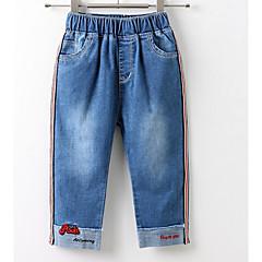 billige Bukser og leggings til piger-Børn / Baby Pige Basale Patchwork Broderi Bomuld Jeans