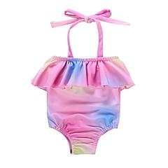 baratos Roupas de Meninas-Bébé Para Meninas Estampa Colorida Roupa de Banho
