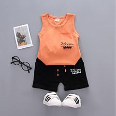 tanie Odzież dla chłopców-Dzieci / Brzdąc Dla chłopców Aktywny / Podstawowy Urlop Nadruk Nadruk Bez rękawów Bawełna Komplet odzieży
