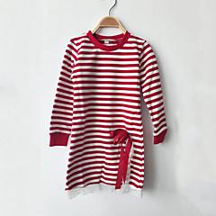 billige Pigetoppe-Børn Pige Blonde / Rosette / Stribet Stribet / Patchwork Langærmet Bomuld T-shirt