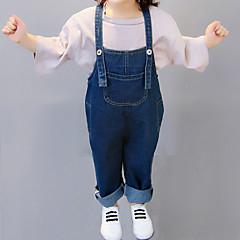 billige Bukser og leggings til piger-Børn Pige Basale Ferie Ensfarvet Patchwork Bomuld Overall og jumpsuit