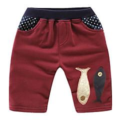 billige Drengebukser-Børn / Baby Drenge Basale Patchwork Patchwork Bomuld Shorts