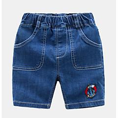 billige Jeans til piger-Børn / Baby Unisex Ensfarvet Jeans