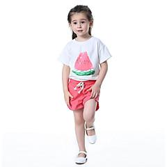 billige Tøjsæt til piger-Børn / Baby Pige Trykt mønster / Frugt Kortærmet Tøjsæt