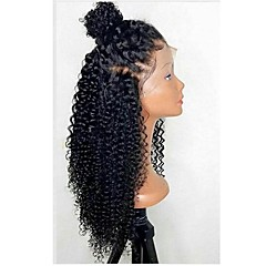cheap -Synthetic Lace Front Wig Women's Curly Black Layered Haircut 150% Density Synthetic Hair with Baby Hair / Heat Resistant / Natural Hairline Black / Burgundy Wig Long Lace Front Black / Brown Burgundy