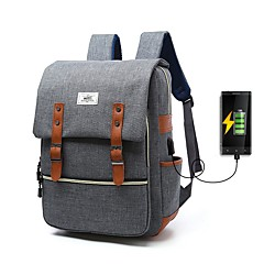 """billiga Laptop Bags-Oxfordtyg Enfärgad Ryggsäckar 16 """"bärbar dator"""