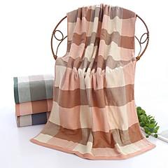 billiga Handdukar och badrockar-Överlägsen kvalitet Badhandduk, Rutig Ren bomull 1 pcs