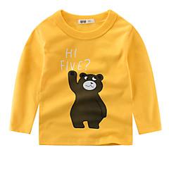 baratos Roupas de Meninos-Bébé Para Meninos Estampado Manga Longa Camiseta