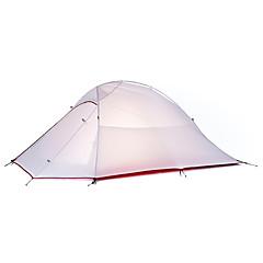 お買い得  テント/シェルター-Naturehike 2人 テント 二重構造 ポール ドーム キャンプテント アウトドア 防雨, 速乾性, 防風 のために キャンピング&ハイキング 2000-3000 mm オックスフォード, ナイロン 210*125*100 cm