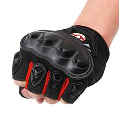 tanie Rękawiczki motocyklowe-WOSAWE Pół palca Dla obu płci Rękawice motocyklowe PVC (PCV) / Oddychająca siateczka / Tkanina poliestrowa Oddychający / Wodoodporność / Odporny na wstrząsy
