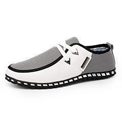 Herr Komfortskor PU Vår / Höst Brittisk Sneakers Promenad Svart / Grön / Blå / Kombination / Utomhus / Ljussolar