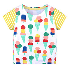 billige Babyoverdele-Baby Pige Trykt mønster Kortærmet T-shirt