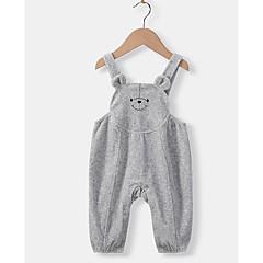 billige Babyunderdele-Baby Pige Basale Ensfarvet Overall og jumpsuit