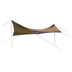 billige Telt og ly-DesertFox® utendørs Beskyttelse & Presenning Lytelt Vanntett Regn-sikker Solkrem UV Beskyttelse Stang Ett Rom Med enkelt lag 2000-3000 mm Telt til Camping & Fjellvandring Fisking Klatring Oxford