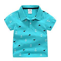 baratos Roupas de Meninos-Bébé Para Meninos Básico Sólido Manga Curta Camiseta