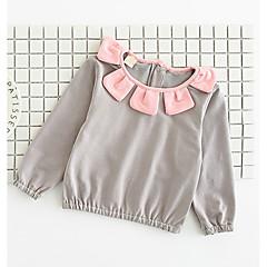 billige Babyoverdele-Baby Pige Aktiv Ensfarvet Langærmet Bomuld / Polyester T-shirt Lyserød 100